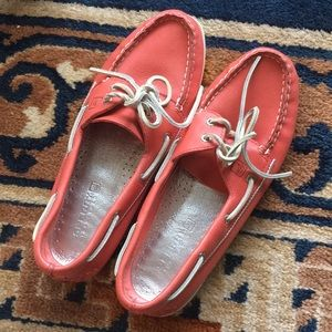 Genuine leather size 8.5 Sperry loafers